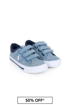 Ralph Lauren Kids Boys Blue Elmwood Trainers
