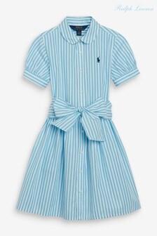 Ralph Lauren Green Stripe Shirt Dress