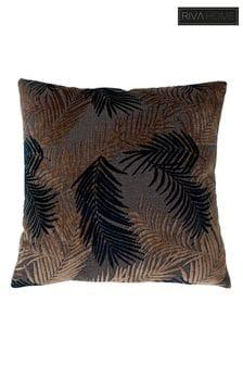 Palm Grove Botanical Jacquard Cushion by Riva Home