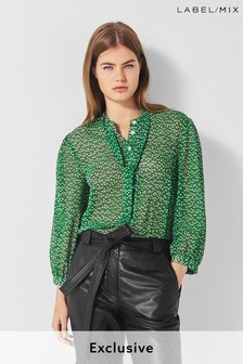 Mix/Cefinn Dot Print Blouse
