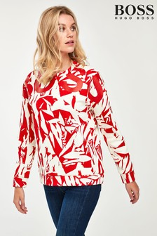 BOSS Red Animal Print T-Shirt