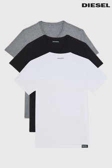 Diesel Grey, White and Black V-Neck 3 Pack T-Shirt