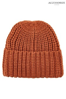Accessorize Tan Bea Chunky Turn-Up Beanie