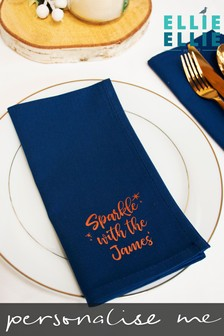 Personalised 'Sparkle With The' Surname Napkin by Ellie Ellie