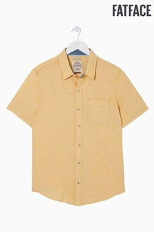 FatFace Yellow Bugle Linen Cotton Shirt
