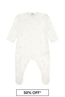 Bonpoint White Cotton Babygrow
