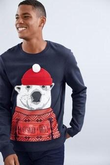 Mikina s vianočným motívom