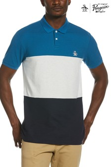 Original Penguin® Blue Colourblock Poloshirt
