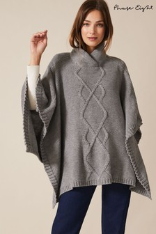 Phase Eight Grey Melly Cable Poncho