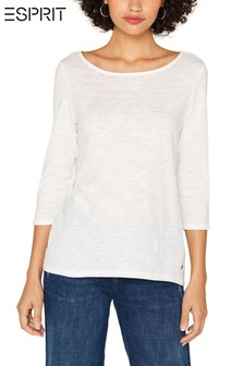 Esprit White Long Sleeve T-Shirt