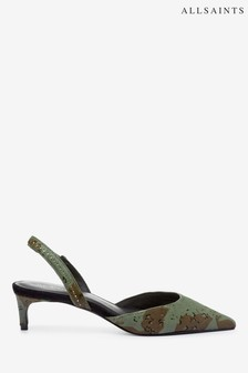 AllSaints Mia Sling Back Kitten Calf Shoes