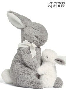 Mamas & Papas Forever Treasured Bunny And Baby Soft Toy