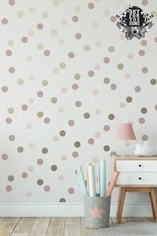 Art For The Home Pink Superfresco Easy Dotty Polka Wallpaper