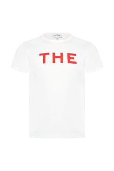 Marc Jacobs Girls White Cotton T-Shirt