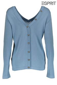 Esprit Blue Sweater With Button Details