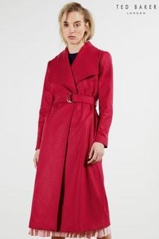 Ted Baker Red Jianna Long Coat