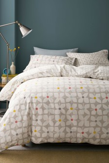Retro Floral Duvet Cover and Pillowcase Set