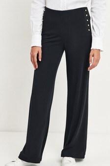 Lauren Ralph Lauren® Navy Wide Leg Vattani Trousers