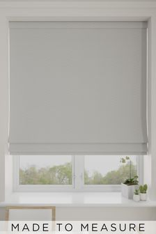 Aria Silver Metallic Made To Measure Roman Blind