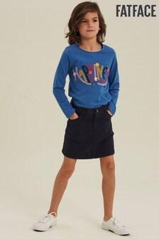 FatFace Blue 5 Pocket Skirt
