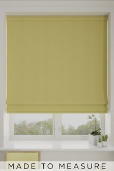 Aria Zest Yellow Made To Measure Roman Blind