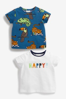 2 Pack Organic Cotton Animal Tops (0mths-3yrs)