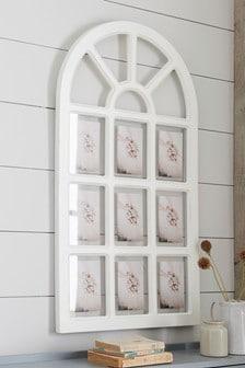 Деревянная арочная рамка в винтажном стиле