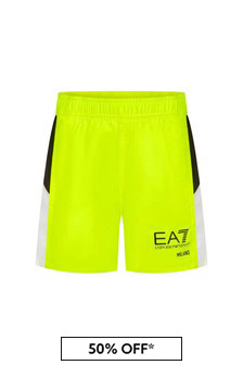 EA7 Emporio Armani Boys Yellow Swim Shorts