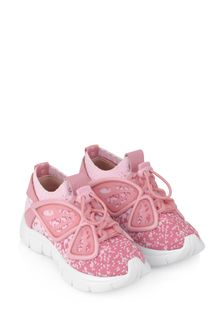 Girls Pink Fly-By Knit Trainers