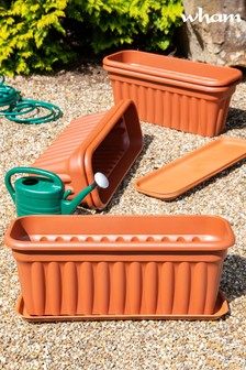 Set of 5 Vista 80cm Tray And Garden Troughs by Wham