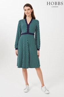 Hobbs Green Samara Jersey Dress
