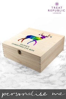 Personalised Rainbow Stag Christmas Eve Box by Treat Republic