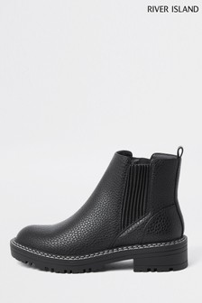 River Island Black Queen Chelsea Boots
