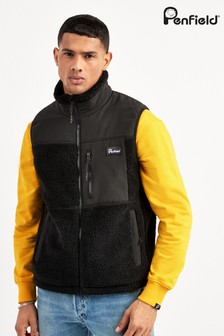 Penfield Black Waterford Fleece Gilet