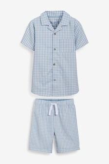 Button Through Short Pyjamas (9mths-8yrs)