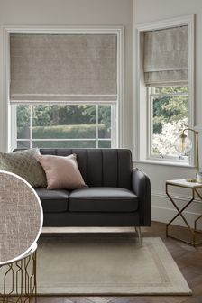 Heavyweight Silver Chenille Roman Blind