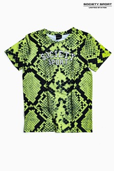 Society Sport Kids Neon Green Snake T-Shirt