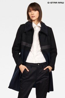 G-Star Black Empral Slim Trench Coat