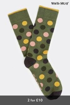 White Stuff Green Spot Socks