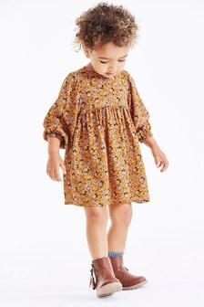Printed Volume Sleeve Dress (3mths-7yrs)