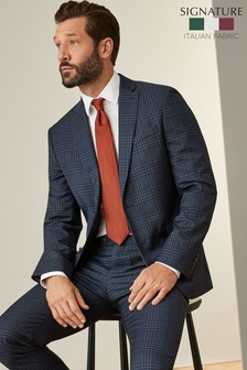 Slim Fit Tollegno Check Suit