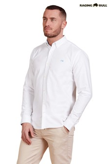 Raging Bull White Signature Oxford Shirt