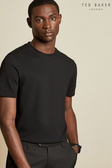 Ted Baker Jamin Textured Cotton Blend T-Shirt