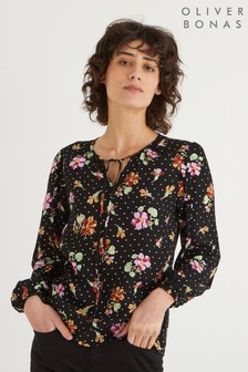 Oliver Bonas Tapestry Floral Long Sleeve Top