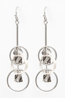 Circle Shapes Drop Earrings