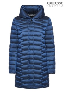 Geox Woman's Jaysen Dark Limoges Blue Down Jacket