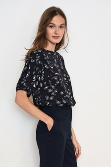 Square Neck Short Sleeve Top
