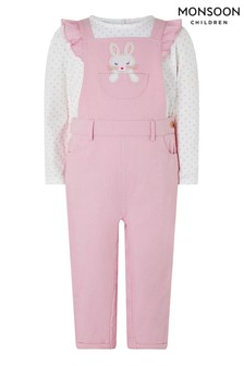 Monsoon Baby Albi Dungarees & T-Shirt