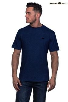 Синяя фирменная футболка Raging Bull