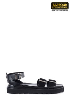 Barbour® International Black Keira Sandals